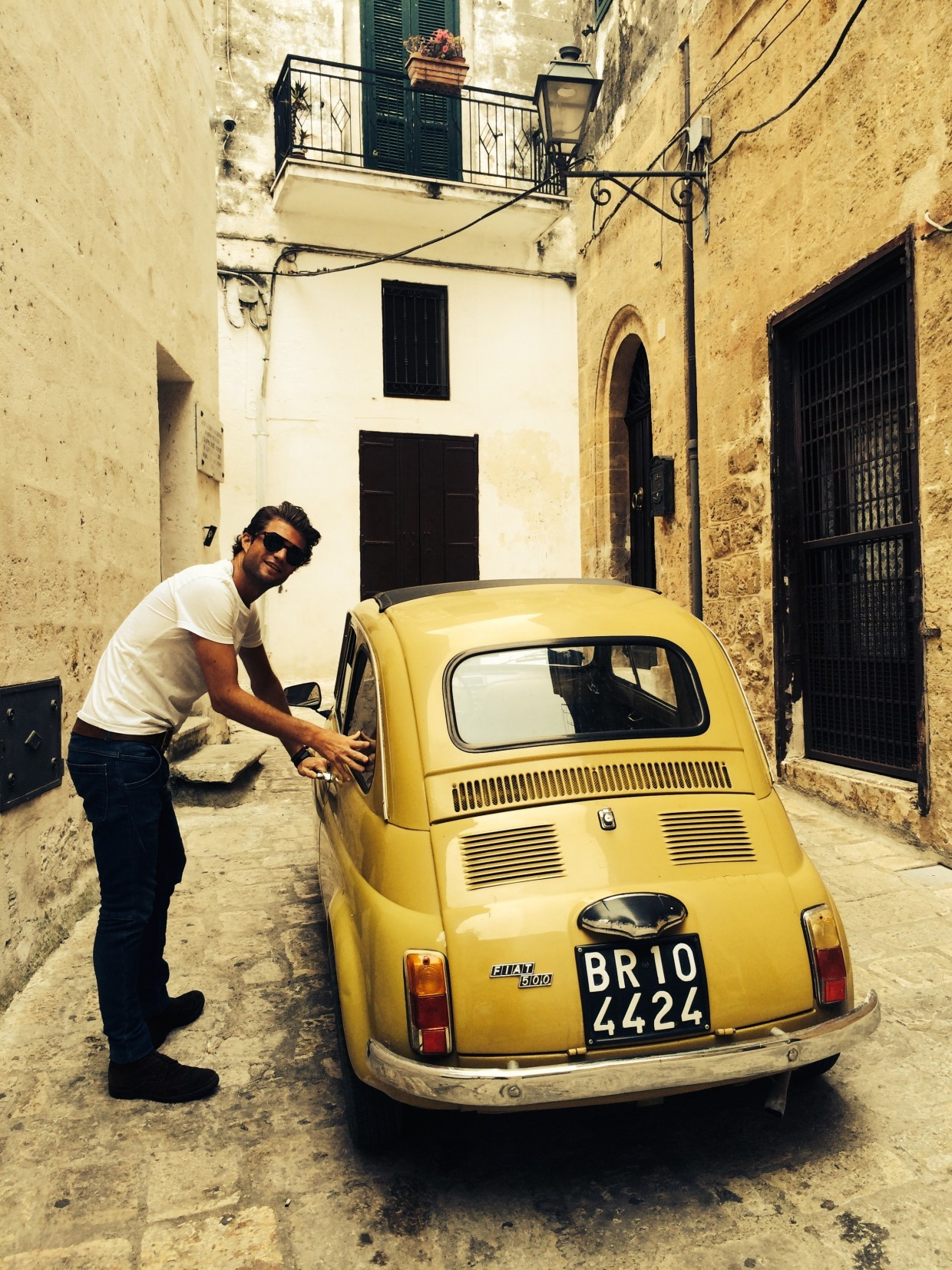 Yellow Fiat 2